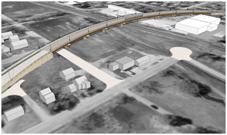 Rendering of vehicular viaduct at 12th Avenue